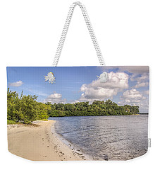 Weekender Tote Bag featuring the photograph Sandy Beach by Jane Luxton
