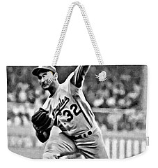 Sandy Koufax Throwing The Ball Weekender Tote Bag