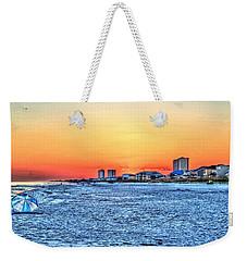 Sandy Sunset Weekender Tote Bag