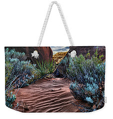 Sandy Trail Arches National Park Weekender Tote Bag by Gary Warnimont