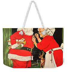 Santa And Mrs Weekender Tote Bag
