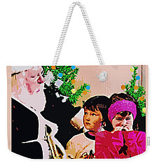 Santa And The Kids Weekender Tote Bag