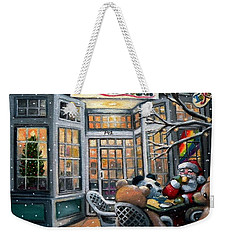 Santa At Toodeloos Toy Store Weekender Tote Bag by Eileen Patten Oliver