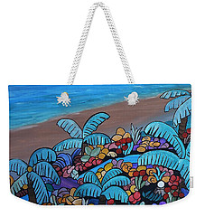 Weekender Tote Bag featuring the painting Santa Barbara Beach by Barbara St Jean