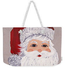 Santa Weekender Tote Bag by Barbara McDevitt