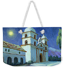 Santa Barbara Mission Moonlight Weekender Tote Bag