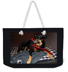 Weekender Tote Bag featuring the photograph Santa? by Cassandra Buckley