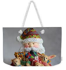 Santa Claus Weekender Tote Bag by Ella Kaye Dickey