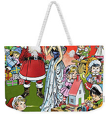 Santa Claus Toy Factory Weekender Tote Bag by Jesus Blasco