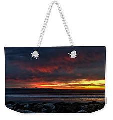 Weekender Tote Bag featuring the photograph Santa Cruz Rocks by Michael Gordon