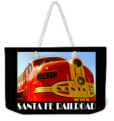 Santa Fe Railroad Color Poster Weekender Tote Bag