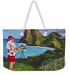 Santa In Kahakuloa Maui Weekender Tote Bag
