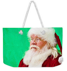 Weekender Tote Bag featuring the photograph Santa by Ludwig Keck
