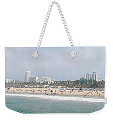 Santa Monica Beach, Santa Monica, Los Weekender Tote Bag by Panoramic Images