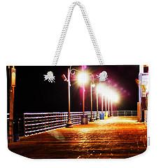 Santa Monica Pier At Night Weekender Tote Bag