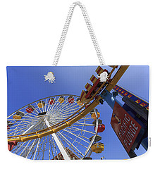 Santa Monica Pier Pacific Plunge Weekender Tote Bag