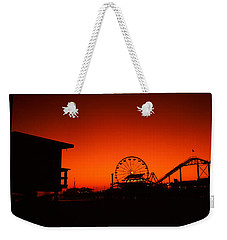 Santa Monica Pier, Santa Monica Beach Weekender Tote Bag by Panoramic Images