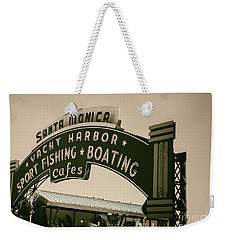 Santa Monica Pier Sign Weekender Tote Bag