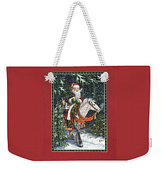 Santa Of The Northern Forest Weekender Tote Bag