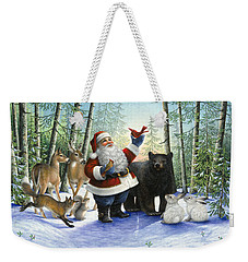 Santa's Christmas Morning Weekender Tote Bag