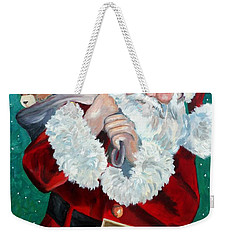 Santa's Coming To Town Weekender Tote Bag