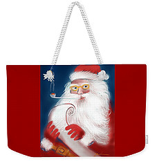 Weekender Tote Bag featuring the painting Santa's List by Jean Pacheco Ravinski