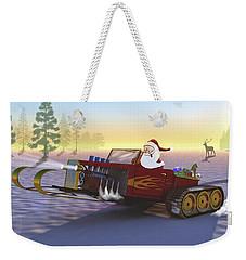 Santa's New Sleigh Weekender Tote Bag
