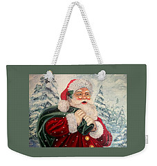 Santa's On His Way Weekender Tote Bag