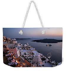 Santorini At Dusk Weekender Tote Bag