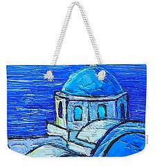 Santorini  Blue Weekender Tote Bag