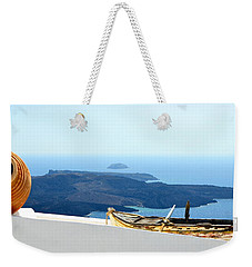 Santorini Rooftop Weekender Tote Bag