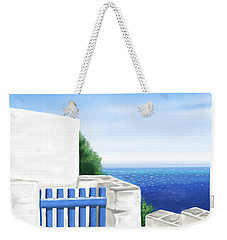 Santorini Weekender Tote Bag by Veronica Minozzi