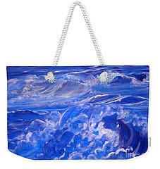 Sapphire Sea Weekender Tote Bag