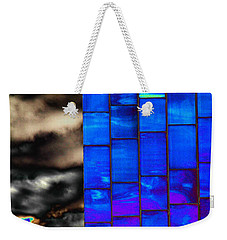 Weekender Tote Bag featuring the photograph Sapphire Sunset by Christiane Hellner-OBrien