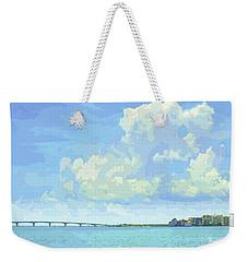 Sarasota Skyline From Sarasota Bay Weekender Tote Bag