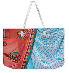 Saree In The Market Weekender Tote Bag by E Faithe Lester