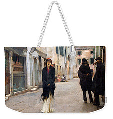 Sargent's Street In Venice Weekender Tote Bag