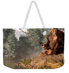 Sasquatch Goes Fishing Weekender Tote Bag