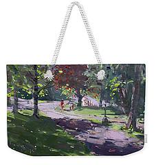 Saturday In The Park Weekender Tote Bag