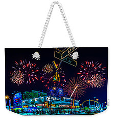 Saturday Night At Coney Island Weekender Tote Bag