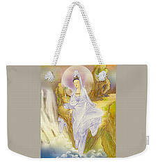 Weekender Tote Bag featuring the photograph Sault-witnessing Kuan Yin by Lanjee Chee