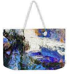 Weekender Tote Bag featuring the painting Sausalito by Dominic Piperata