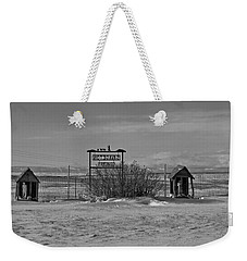 Weekender Tote Bag featuring the photograph Savageton Cemetery  Wyoming by Cathy Anderson
