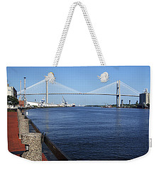 Savannah River Bridge Ga Weekender Tote Bag