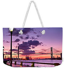 Savannah River Bridge Weekender Tote Bag