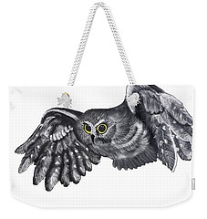 Saw-whet Owl Weekender Tote Bag by Terry Frederick