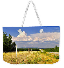 Weekender Tote Bag featuring the photograph Sawmill Creek Road by Cathy Mahnke