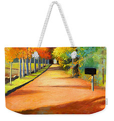 Sawmill Road Autumn Vermont Landscape Weekender Tote Bag by Catherine Twomey