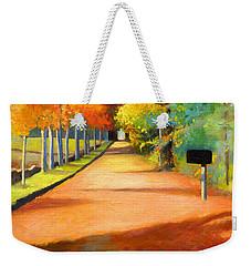 Sawmill Road Autumn Vermont Landscape Weekender Tote Bag