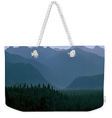 Sawtooth Mountains Silhouette Weekender Tote Bag
